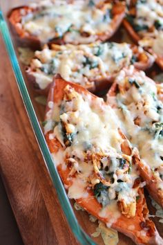 Healthy Chipotle Chicken Sweet Potato Skins by halfbakedharvest #Sweet_Potato #Chicken #Chipotle #Healthy #Paleo
