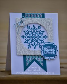 Along Came Stamping: Christmas Snowflake CASE #Tags4You #FestiveFlurry #stampinup