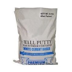 We are manufacturer of white cement based wall putty for wall finish which gives you smooth and water resistant surface.