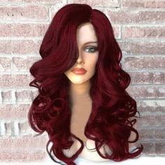 Red Wigs Lace Frontal Wigs Long Blond Wig Brown Lolita Wig Green Lace Front Wig Dirty Blond Wig Natural Looking Red Hair Dye Long Wigs, Short Wigs, Wig Styles, Curly Hair Styles, Purple Wig, Dyed Red Hair, Hair Dye, Natural Wigs, Red Wigs