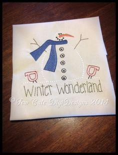 Primitive Country Winter Wonderland Snowman Redwork Machine Embroidery Design - Instant Download by SewCuteDigiDesigns on Etsy https://www.etsy.com/listing/212433714/primitive-country-winter-wonderland
