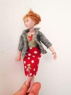 Doll by Taru Astikainen, styling by Hanna & Leijona Miniature Dolls, Dollhouses, Portrait, Vintage, Style, Fashion, Swag, Moda, Headshot Photography
