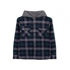Bender Hoodie Shirt Stylish Kids Clothing by Knot Shirt for boy in flannel, with soft finishing, 100 % cotton, jersey lining with padding, round neckline, hoodie, long sleeves, front pockets and mother-of-pearl buttons. Perfect for colder days. Made in Portugal. #kidsclothing #kidsclothes #kidstyle #kidsstyle #tinypeopleshop #kidsfashion Baby Boutique Clothing, Kids Clothing, Knotted Shirt, Cool Kids Clothes, People Shopping, Kids Branding, Boys Hoodies, Mother Of Pearl Buttons, Stylish Kids