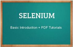 selenium testing tutorial