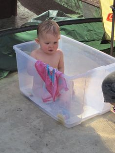 Toddler Bathtub for Bathing in the outdoors