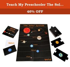 Teach My Preschooler The Solar System. 5512829 Features: -Introduces your child to the basics of the solar system. -Using a coordinated book, puzzle, poster and flashcards, Teach My showcases the sun and the nine planets that rotate around the sun. -3 Years+. -Includes 1 Book, including Pluto, the Dwarf Planet; 1 Poster; 10 Flashcards; 20 Piece Puzzle; Teaching Guide and Re-Sealable Storage Bag. Gender: -Boy/Girl. Minimum Age Requirement: -2 Years And Up. Dimensions: Overall Height - Top…