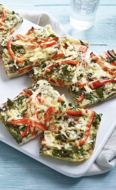 An oven-baked frittata makes a great light supper or lunches for the week. Bbc Good Food Recipes, Egg Recipes, Healthy Dinner Recipes, Baking Recipes, Savoury Recipes, Simple Recipes, Yummy Recipes, Oven Baked Frittata, Chicken Tray Bake Recipes