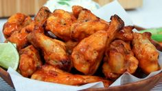 Dish Do-Over: Buffalo Wings with Blue Cheese Dip by Chef Jo Lusted (lighter, healthier wings! Ww Recipes, Chicken Recipes, Cooking Recipes, Healthy Recipes, Recipe Chicken, Turkey Recipes, Healthy Food, Healthy Eating, Appetizer Recipes