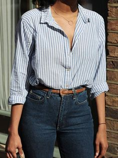 The white stripes mae saved to best spring outfits casual 2019 fr frauen Komplette Outfits, Casual Work Outfits, Office Outfits, Classy Outfits, Spring Outfits, Trendy Outfits, Fashion Outfits, Winter Outfits, Striped Outfits