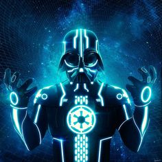 TRON WARS - Darth Vader / Tron Mashup Art
