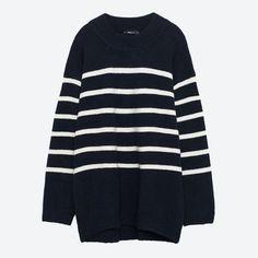 Nos 10 coups de cœur mode du mois d'octobre 2016 - Pull XL en acrylique et polyester, de Zara