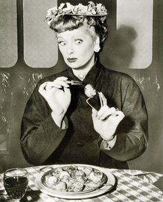 "I Love Lucy - ""I think an American cousin of yours ate my geranium plant.""  :)"