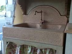 Lavelli da cucina su misura, in cemento e/o graniglia. grigiocemento.it