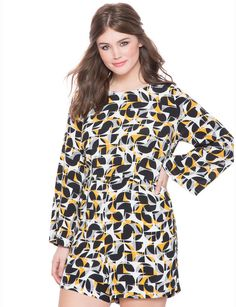 9d0ad092802 Plus Size Flared Sleeve Romper   Read more reviews of the product by  visiting the link