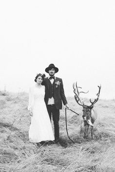 A wild and wintry Cornish photoshoot with REINDEER and timeless vintage styling by My Vintage Affair, Sarah Falugo and Lucy Jenner-Brown from Gwel an Mor captured by Sarah Falugo