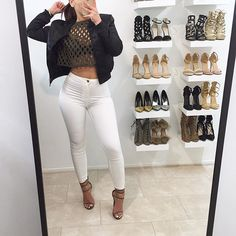 Cute outfits with white pants gpant. Fall Outfits For Teen Girls, Cute Teen Outfits, Curvy Outfits, Summer Fashion Outfits, Casual Fall Outfits, Outfit Summer, Summer Shoes, Spring Outfits, White Pants Outfit