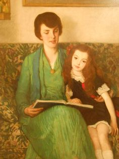 """"""" A Tale of Cinderella. Francis Luis Mora (Uruguayan-born American, In 1904 Mora was voted an Associate member of the National Academy of Design, and was elected a full member. Woman Reading, Kids Reading, Reading Art, Books To Read For Women, Reading Themes, Lovers Eyes, Book Corners, Mother And Child, American Artists"""