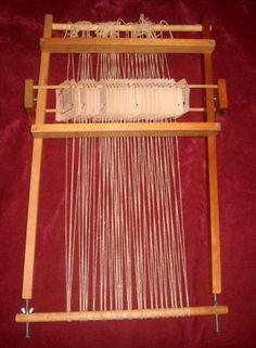 tablet weaving on a loom