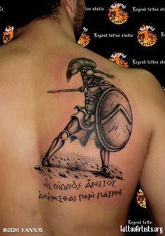 Spartan Tattoo Ideas | spartan worrior tattoo legendtattoo.com legned tattoo studio - Tattoo ...