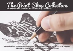 Create Print-Ready Vintage Typography with The Print Shop Collection | InkyDeals