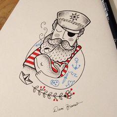 Tatuadora brasileira cria desenhos inspirados no universo infantil | Estilo Art And Illustration, Watercolor Illustration, Mermaid Man, Mermaid Coloring, Nautical Art, Gay Art, Tattoo Sketches, Drawing For Kids, Tattoo Studio