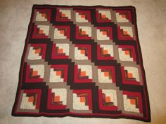 Log Cabin Crochet Quilt ~ my next project, but Im thinking in blues!!  rd