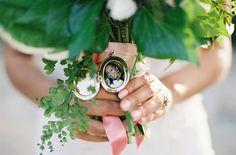 Malibu Wedding :: Photography Kurt Bomer #Malibu #wedding #events #bride #bouquet #locket #memories