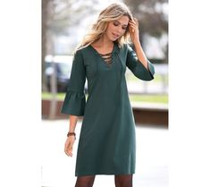 Šaty s 4 rukávmi Ideias Fashion, Cold Shoulder Dress, Dresses With Sleeves, Long Sleeve, Autumn, Frill Dress, Woman Dresses, Long Sleeve Dresses, Dresses For Girls