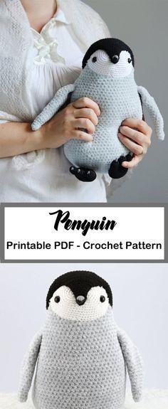 Penguin Crochet Patterns -Amigurumi Tips - A More Crafty Life Crocheting Patterns, Crochet Animal Patterns, Crochet Patterns Amigurumi, Crochet Dolls, Crochet Stitches, Cute Crochet, Crochet Crafts, Crotchet, Crochet Projects