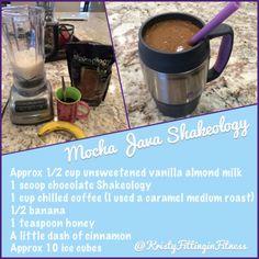 Mocha Java Shakeology - Chocolate Shakeology Recipe with Coffee