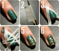 I get that it's not Christmas anymore but this is a basic tutorial on how to use tape strips to do your nail art. It looks so clean and salon quality!