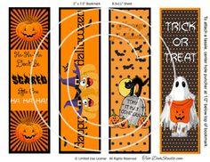 personalized custom halloween bookmarks u print diy give aways treats - Halloween Book Marks