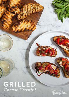 Grilled Cheese Crostini via @PureWow