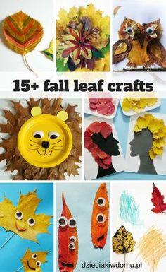 Jesienne liście – pomysły na prace plastyczne i zabawy dla dzieci   Dzieciaki w domu Leaf Crafts, Tree Crafts, Diy Crafts, Toddler Crafts, Preschool Crafts, Diy For Kids, Crafts For Kids, Autumn Leaves Craft, Potato Stamp