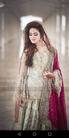 Faiza s aloon brides Pakistani Fashion Party Wear, Pakistani Bridal Makeup, Bridal Mehndi Dresses, Nikkah Dress, Shadi Dresses, Pakistani Wedding Outfits, Bridal Dress Design, Pakistani Wedding Dresses, Pakistani Dress Design