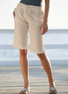 Stone Linen Blend Shorts