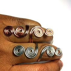 Knuckle to Knuckle Rings by DesignsByAlesia on Etsy