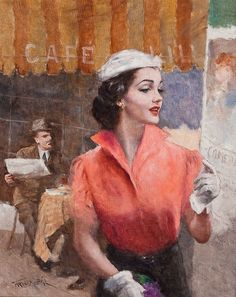 Hungarian American painter Pal Fried (1893–1976)