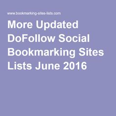 Get the Latest Live Social Bookmarking Sites Lists at a glance. Use those sites to get a quick back link for your site. Bookmarking Sites, Free Youtube, Nicki Minaj, The Hobbit, Lamborghini, Food And Drink, Foods, Make It Yourself, Drinks