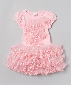 Look at this Wenchoice Pink Wave Pettidress - Infant, Toddler & Girls on #zulily today!