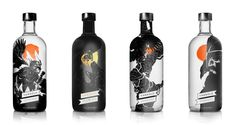 Vargold vodka group bottles. By I love dust, UK.