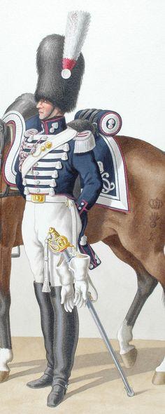 1830. Garde Royale. Grenadiers à Cheval (2e Régiment). Maréchal des Logis-Chef.
