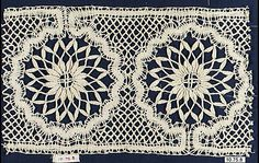 Insertion, French, 20th century, bobbin lace.