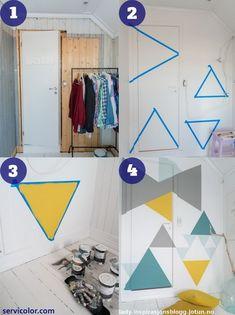 3 maneras de pintar tú mismo una pared con triángulos