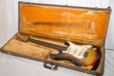 Vintage 1963 Fender Stratocaster owned by Jimi Hendrix