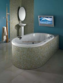Tao tub - very deep drop-in tub.