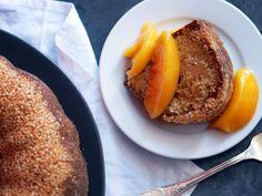 Orange Blossom-Sesame Cake with Peaches #recipe