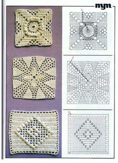Transcendent Crochet a Solid Granny Square Ideas. Inconceivable Crochet a Solid Granny Square Ideas. Filet Crochet, Crochet Motifs, Crochet Blocks, Crochet Stitches Patterns, Thread Crochet, Crochet Designs, Point Granny Au Crochet, Granny Square Crochet Pattern, Crochet Diagram