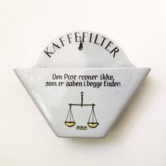 Vintage Coffee Filter Holder Wall Pocket Kaffefilter Knabstrup