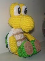 Super Mario Bros. Koopa Troopa plushie (with free crochet pattern)